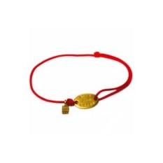 Золотой браслет на веревке Делами а не словами