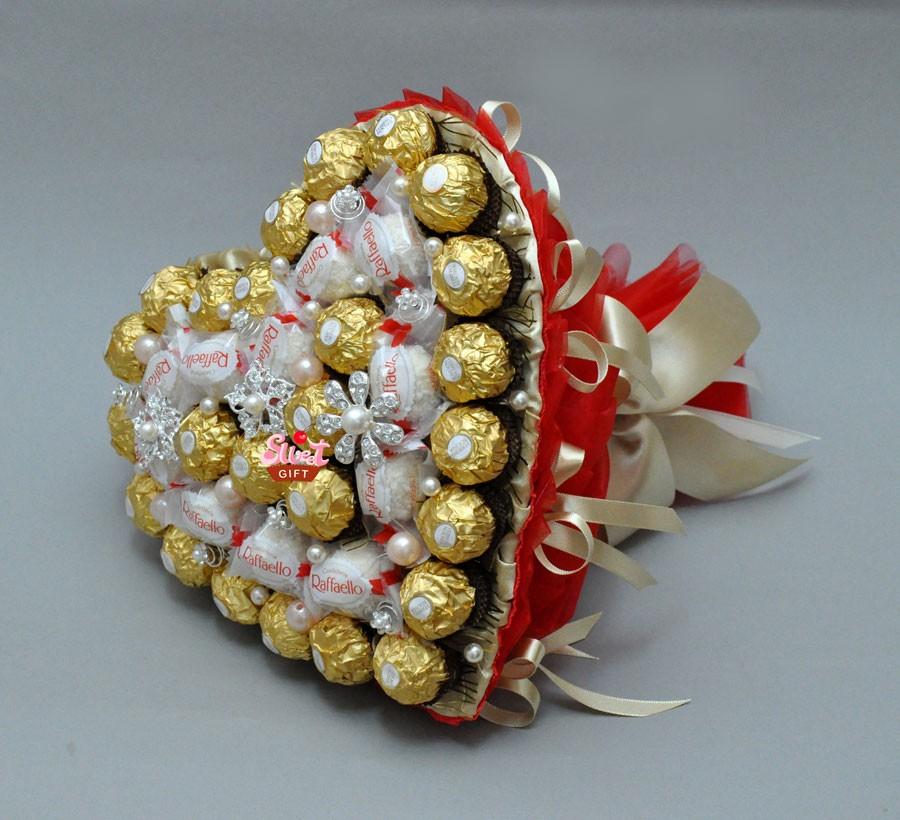 Букет из конфет Сладкое сердечко