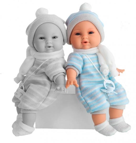 Плачущая кукла-младенец Нано в голубом
