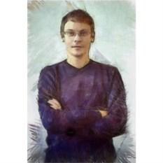 Портрет на холсте в стиле Карандаш