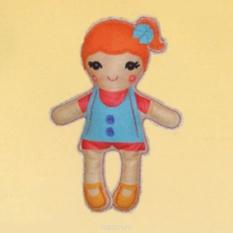 Набор для шитья из фетра Кукла в голубом платье