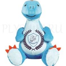 Мягкая именная игрушка Голубой динозаврик