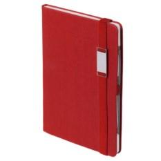 Красный блокнот с ручкой Энигма