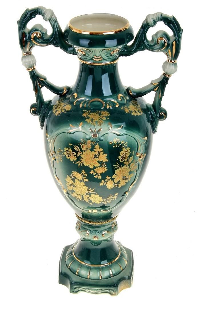 Зеленая напольная ваза Флорена