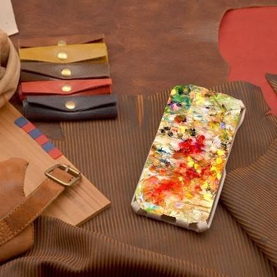 Кожаный чехол-флип для iPhone 6S / 6 Буйство цвета