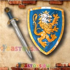 Игровой набор рыцаря Синий щит и меч