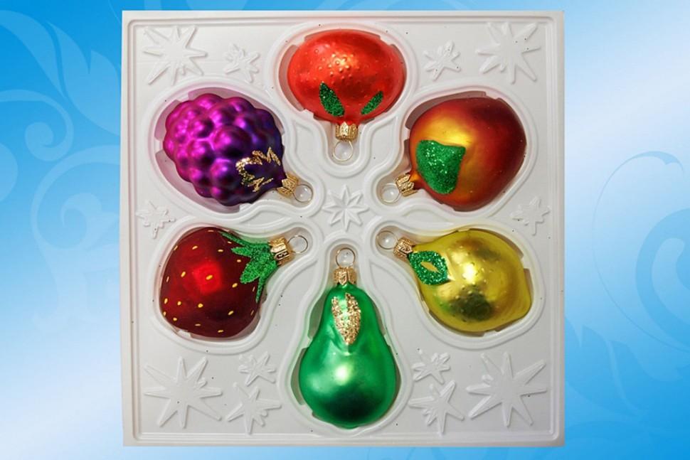 Набор новогодних шаров Фрукты