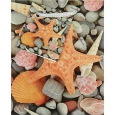 Бумажный ламинированный пакет Морская звезда