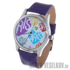 Часы Mitya Veselkov Цветные сердца и Париж