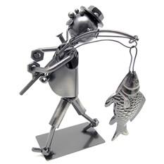 Фигурка из металла Рыбак-1