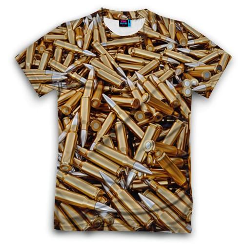 Мужская футболка 3D с полной запечаткой Гильзы