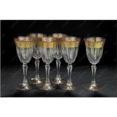 Набор из 6 хрустальных бокалов для вина Versace Cre Art