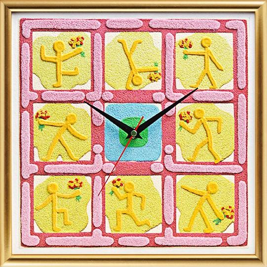 Часы «Букет для любимой»