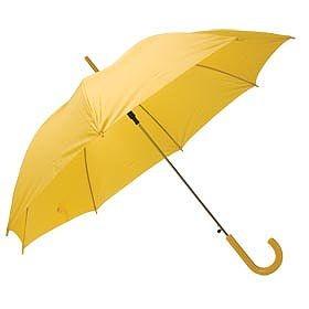 Зонт с пластиковой ручкой, желтый