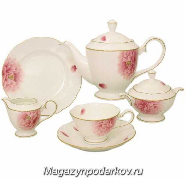 Чайный сервиз на 12 персон Narumi Пион