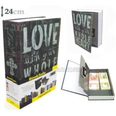 Книга-сейф с кодовым замком Love (высота 24 см)