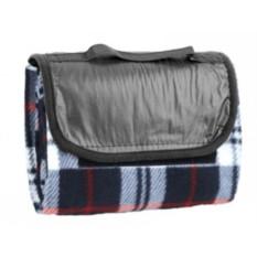 Плед для пикника с непромокаемой подкладкой (синий)