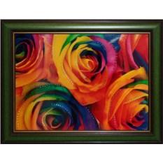 Картина с кристаллами Сваровски Радужные розы