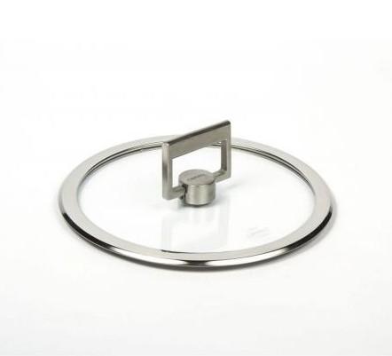 Плоская стеклянная крышка с ручкой Cristel Strate Fixe 18 см