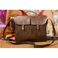 Кожаный мужской портфель ручной работы