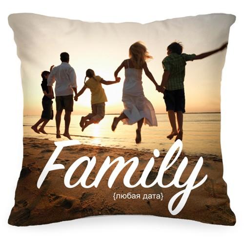 Подушка с Вашим фото и датой Family