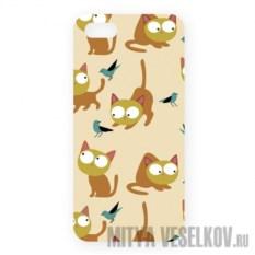 Чехол для IPhone 5 Рыжие кошки