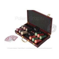 Набор для покера LUX на 300 фишек из керамики в кейсе