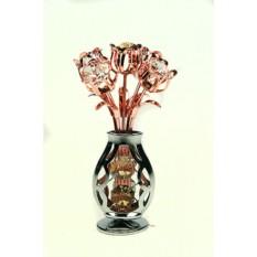 Фигурка декоративная Swarovski Ваза с цветами