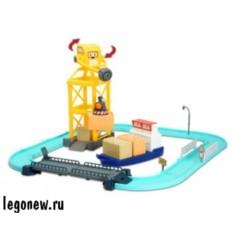Robocar Poli Порт с разводным мостом и машинкой