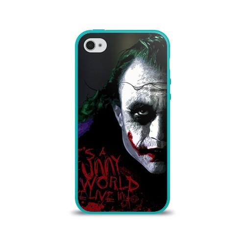 Силиконовый глянцевый чехол для Apple iPhone 4 Джокер