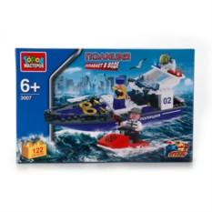 Пластмассовая игрущка-конструктор Полицейский катер