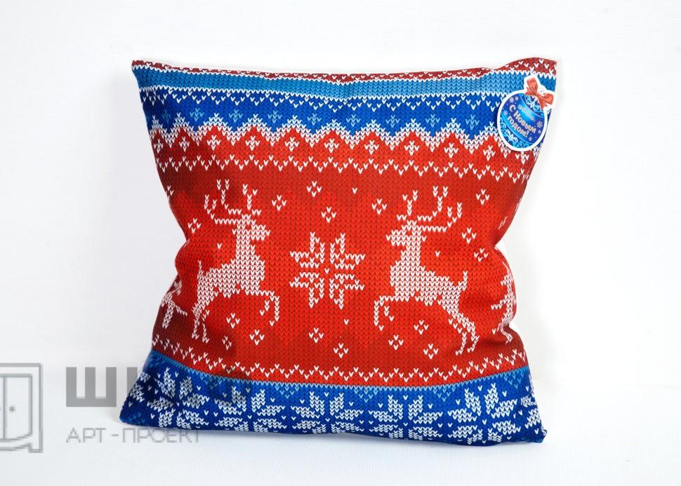 Новогодняя подушка Скандинавский узор