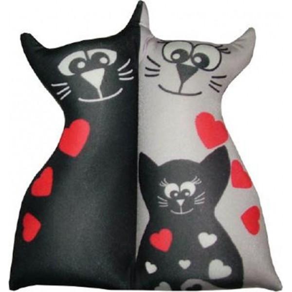 Игрушка антистрессовая Влюбленные кисы (черный котенок)