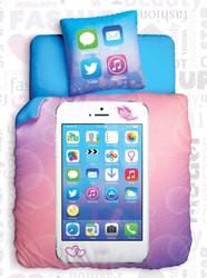 Комплект подросткового постельного белья Glamour Phone