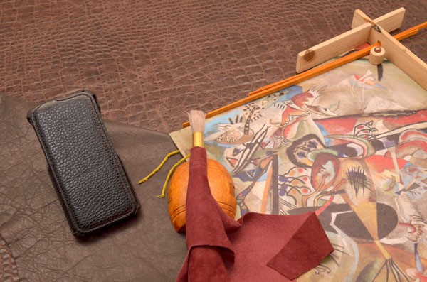 Кожаный чехол для iPhone 6 (книжка) «Ночь на Килиманджаро»