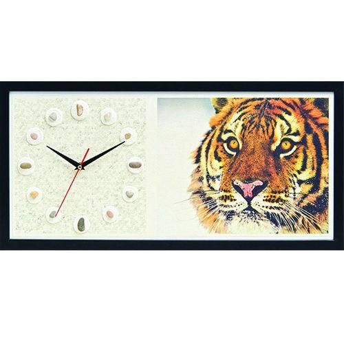 Настенные часы из песка Тигр