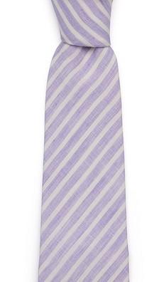 Лиловый в полоску галстук Fumagalli из льна