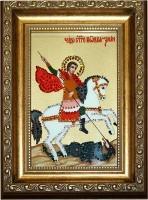 Хрустальная картина Сваровски Икона Георгий Победоносец