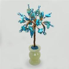 Дерево из бирюзы Сия в стиле минимализма