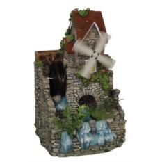 Фонтан Домик с ветряной и водяной мельницей и водокачкой
