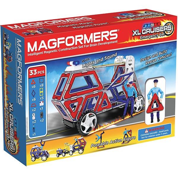 Конструктор Magformers XL Cruisers - Служба Спасения