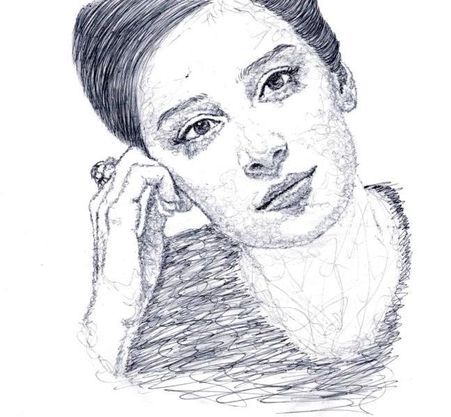 Портрет ручкой