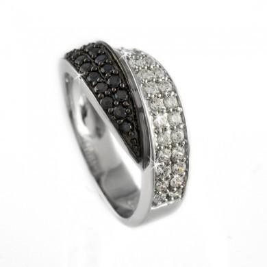 Серебряное кольцо с родированием r10409-bz