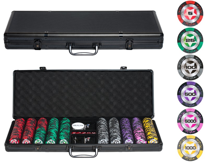 Набор для покера на 500 фишек Black Stars