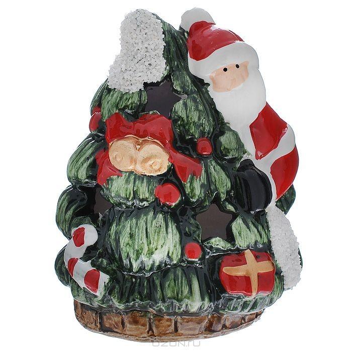 Новогодний подсвечник Дед Мороз, с подсветкой