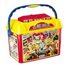 Крупноблочный конструктор в контейнере Haenim toys «5 в 1»