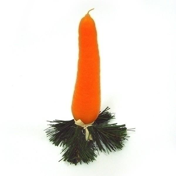 Свеча Морковь - нос снеговика