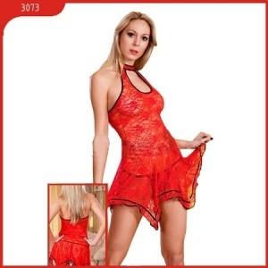 Платье и стринги, красное, кружевное