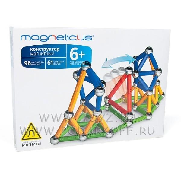 Magneticus конструктор (157 элементов) 4 цвета