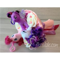 Букет из мягких игрушек Пони Эквестрия Герлс